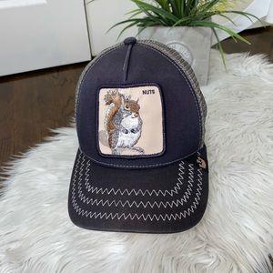 Goorin Bros Trucker Snapback Hat Squirrel Nuts